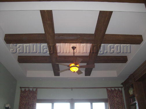 faux wood beams grid