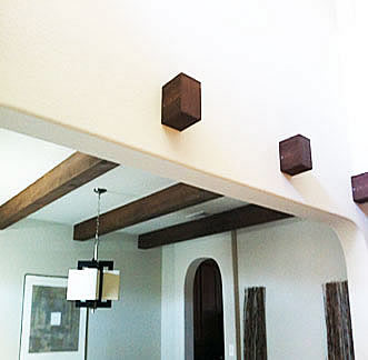 how to make faux wood beams from styrofoam